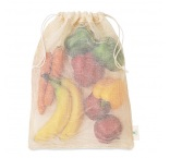 MB9007 - Mesh cotton grocery bag. Min 250 pcs
